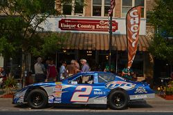 Rusty Wallace's restored Miller Lite winning road-course car present during his induction ceremony
