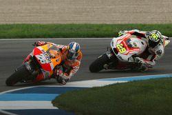 Dani Pedrosa and Andrea Iannone