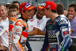 Pole position Marc Marquez, Repsol Honda Team e Jorge Lorenzo