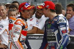 Polesitter Marc Marquez, Repsol Honda Team and Jorge Lorenzo