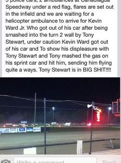 Il resoconto di uno spettatore di un incidente che ha coinvolto Tony Stewart e Kevin Ward Jr.