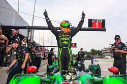 Ryan Dalziel celebrates pole