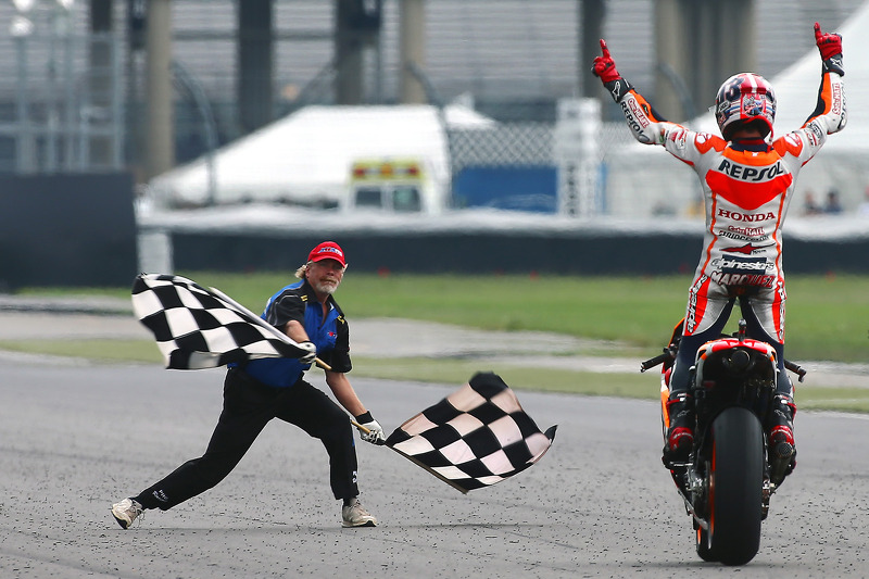 Marc Marquez, Repsol Honda Team celebrates