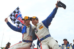 Race winner Joao Barbosa and Christian Fittipaldi celebrate