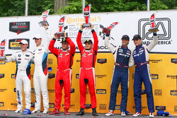 GTLM podium: winners Pierre Kaffer, Giancarlo Fisichella, second place Dirk Muller, John Edwards, th