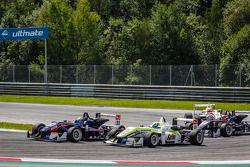 Hector Hurst, Team West-TecF3 Dallara F312 Mercedes, Richard Goddard, ThreeBond with T-Sport Dallara F312 NBE