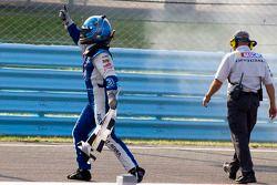 Race winner A.J. Allmendinger, JTG Daugherty Racing Chevrolet