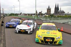 Mercedes, BMW and Audi DTM cars on display