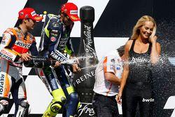 Vainqueur: Dani Pedrosa, 3ème Valentino Rossi