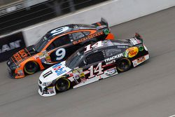 Marcos Ambrose, Richard Petty Motorsports Ford and Jeff Burton, Stewart-Haas Racing Chevrolet