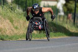 Alex Zanardi bereidt zich voor op de triathlon in Hawaii in oktober