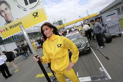 Gridgirl - Robert Wickens, Mercedes AMG DTM-Team HWA DTM Mercedes AMG C-Coupe