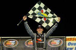 Race winner Daniel Suarez celebrates