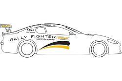 La Maserati GranTurismo MC sponsorizzato dalla Maserati Rally Fighter