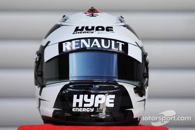Il casco di Andre Lotterer, Caterham F1 Team