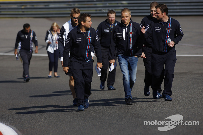 Valtteri Bottas, Williams cammina nel circuito