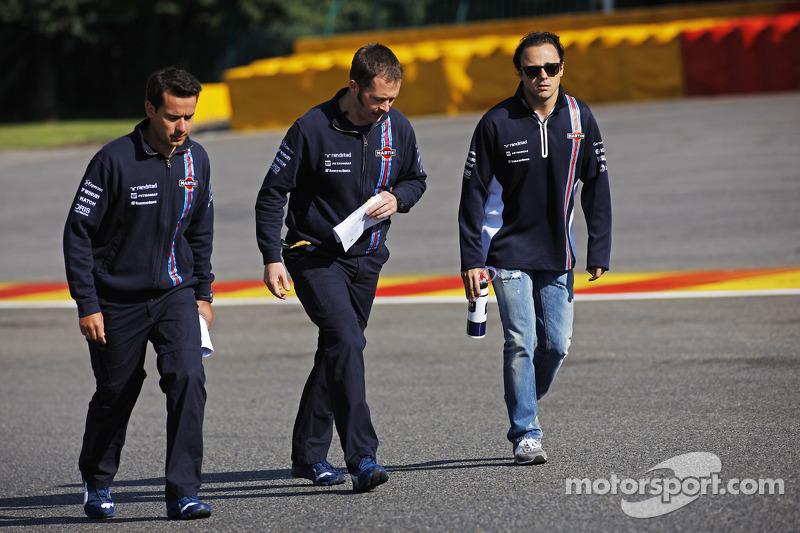 Felipe Massa, Williams pistte yürüyor