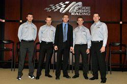 Denny Hamlin, Matt Kenseth, Carl Edwards, Daniel Suarez y Kyle Busch