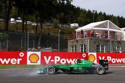 Marcus Ericsson en tête à queue à La Source