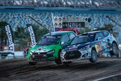 #77 Volkswagen Andretti Rallycross Volkswagen Polo: Scott Speed e #67 Hyundai / Rhys Millen Racing H