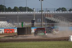 #43 Hoonigan Racing Division Ford Fiesta ST: Ken Block ; #77 Volkswagen Andretti Rallycross Volkswagen Polo: Scott Speed