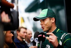 Andre Lotterer, Caterham F1 Team con i media