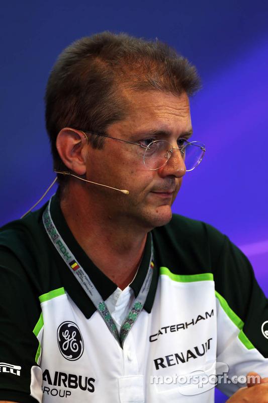 John Iley, Direttore Tecnico Team Caterham F1 alla conferenza stampa FIA