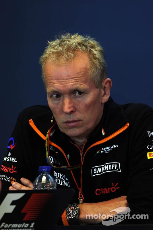 Andrew Green, diretor técnico da Sahara Force India F1 Team, na coletiva de imprensa