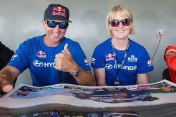 #67 Hyundai / Rhys Millen Racing Hyundai Veloster: Rhys Millen ; #27 Hyundai / Rhys Millen Racing Hyundai Veloster: Emma Gilmour