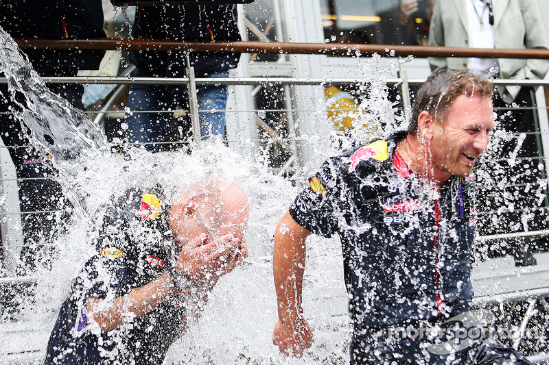 Adrian Newey, Red Bull Racing Chief Technical Officer and Christian Horner, Red Bull Racing Team Pri