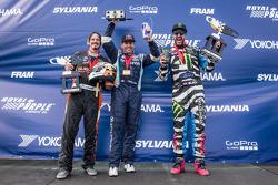 Pódio: vencedor da corrida 6 # 67 Hyundai / Rhys Millen Racing Hyundai Veloster: Rhys Millen, o segu