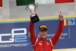 Podium: race winner Raffaele Marciello
