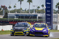 #18 Olsbergs MSE Ford Fiesta ST: Patrik Sandell and #00 Royal Purple Racing / OMSE2 Ford Fiesta ST: