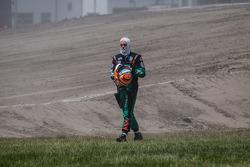Acidente com o #77 Volkswagen Andretti Rallycross Volkswagen Polo: Scott Speed