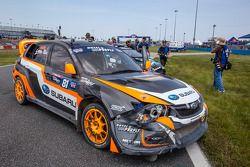 Avaria no carro #81 Subaru Rally Team USA Subaru WRX STi: Bucky Lasek