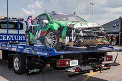 Danos no #77 Volkswagen Andretti Rallycross Volkswagen Polo: Scott Speed