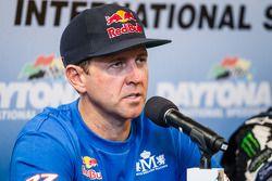 Pós-corrida conferência de imprensa: vencedor #67 Hyundai / Rhys Millen Racing Hyundai Veloster: Rhy