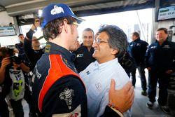 Winnaar Thierry Neuville en Michel Nandan