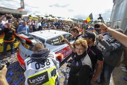 Winners Thierry Neuville and Nicolas Gilsoul, Hyundai i20 WRC, Hyundai Motorsport