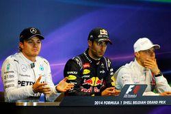 De FIA-persconferentie na afloop van de race, Nico Rosberg, Mercedes AMG F1, Daniel Ricciardo, Red B