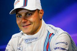 Valtteri Bottas, Williams FW36, in de FIA-persconferentie