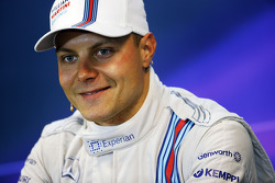 Valtteri Bottas, Williams FW36, in de FIA-persconferentie