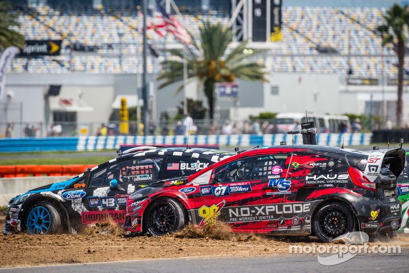 Via: #43 Hoonigan Racing Division Ford Fiesta ST: Ken Block e #07 SH Racing Rallycross Ford Fiesta S