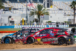 Largada: #43 Hoonigan Racing Division Ford Fiesta ST: Ken Block e #07 SH Racing Rallycross Ford Fiesta ST: Nelson Piquet Jr. luta