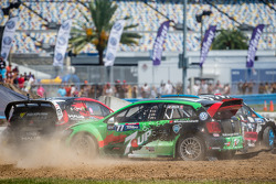 Largada: #43 Hoonigan Racing Division Ford Fiesta ST: Ken Block, #07 SH Racing Rallycross Ford Fiest
