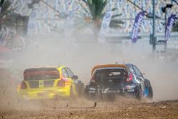 #34 Volkswagen Andretti Rallycross Volkswagen Polo: Tanner Foust, #14 Barracuda Racing Ford Fiesta S