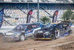 #11 Subaru Rally Team USA Subaru WRX STi: Sverre Isachsen, #14 Barracuda Racing Ford Fiesta ST: Austin Dyne
