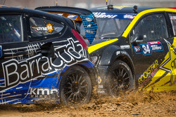 #14 Barracuda Racing Ford Fiesta ST: Austin Dyne e #34 Volkswagen Andretti Rallycross Volkswagen Pol