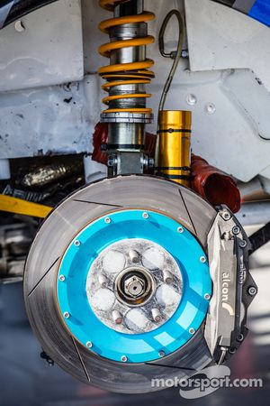 #81 Subaru Rally Team USA Subaru WRX STi suspensão e freios dianteiros