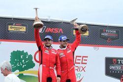 GTLM Kazanan #62 Risi Competizione Ferrari F458: Giancarlo Fisichella, Pierre Kaffer